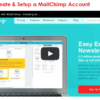 mailchimp video - how to create an account